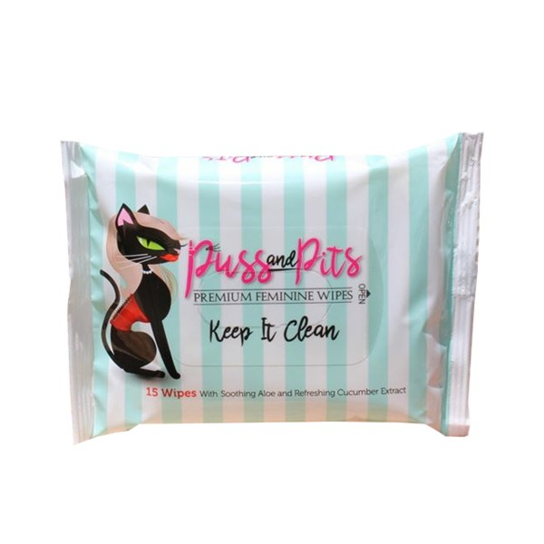 Puss and Pits Wipes 15pk