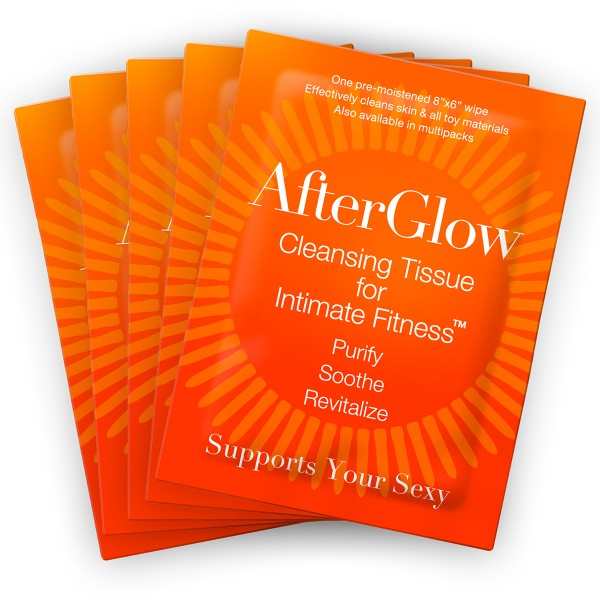 Afterglow Cleansing Tissues for Intimate Fitness - Singles 50/bag