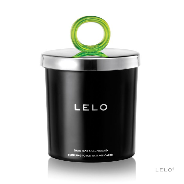 LELO Flickering Touch Massage Candle - Snow Pear/Cedarwood