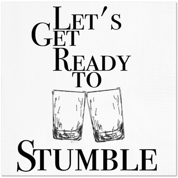 Twisted Wares Let's Get Ready to Stumble Napkins 20pk