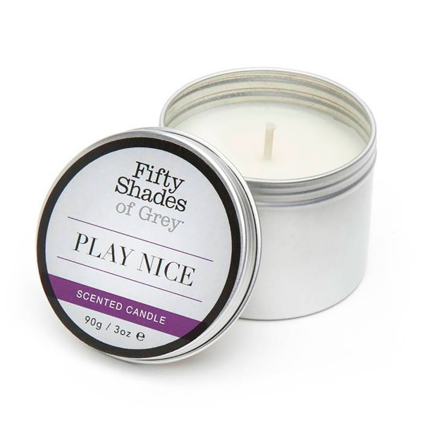 Fifty Shades - Play Nice Vanilla Scented Candle 3oz