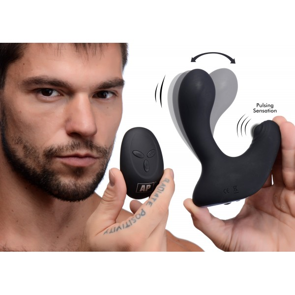 10X P-Pulse Taint Tapping Silicone Prostate Stimulator with Remote Double Pentetration
