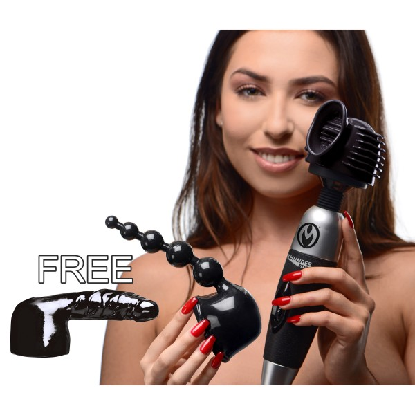 Ultimate Thundergasm Wand Kit with Free Attachment