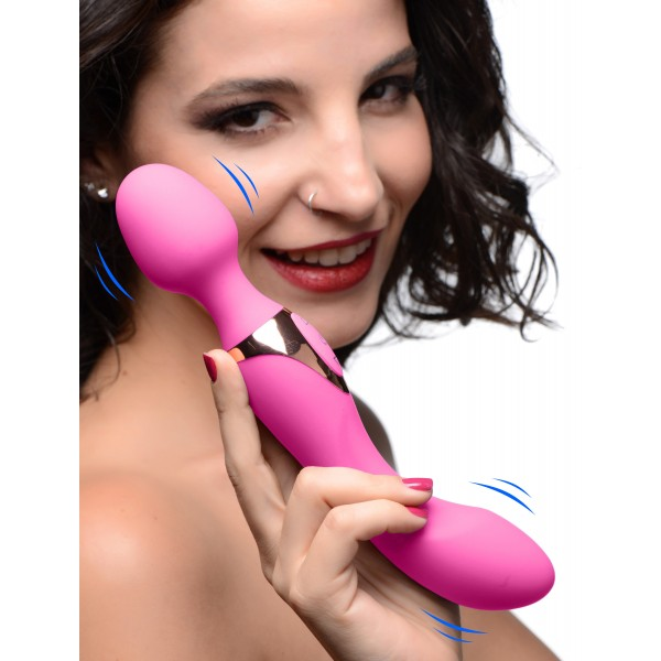 10X Dual Duchess 2-in-1 Silicone Massager - Pink